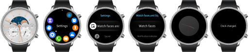 Changing the watch face