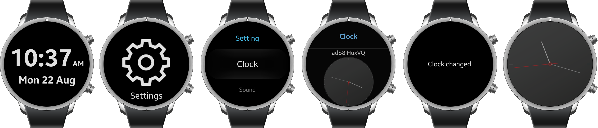 how to change watch face