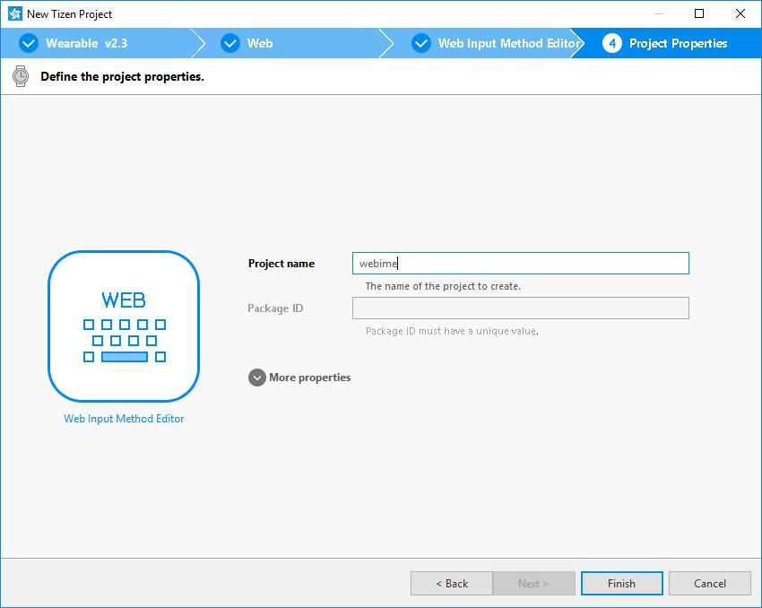 Create a Web IME project