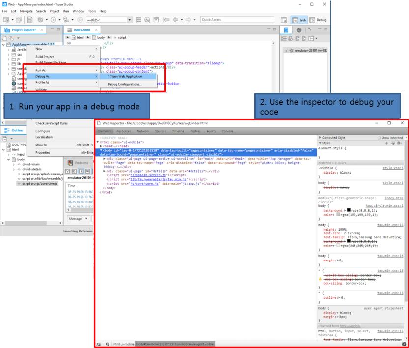 Web debugger