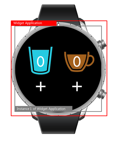 Widget application on a wearable device