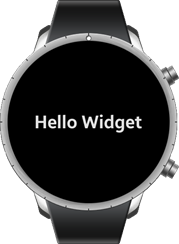 Widget application on a wearable device