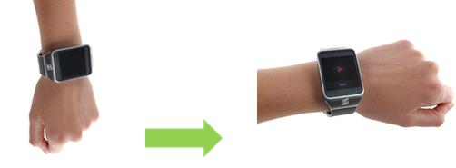 Wrist-up event