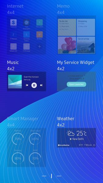 The widget preview as seen in the widget choice menu.
