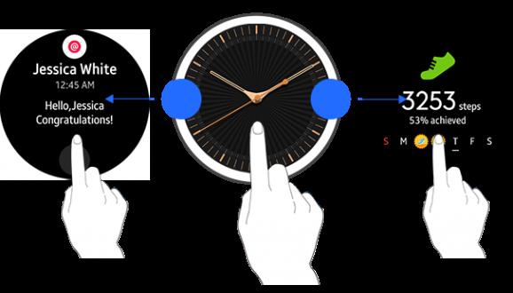 Navigation via swiping