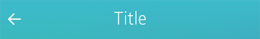 Title bar with a Back button
