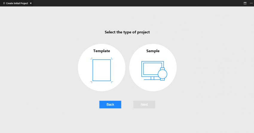 Select the type of project