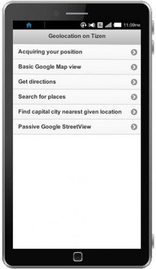 Sample application screen shot