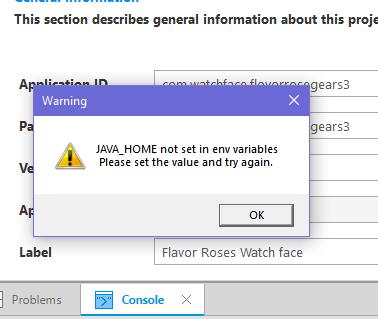 After updated SDK -Java_Home not set in env variables | Tizen Developers