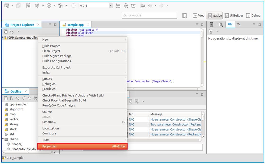 C++ for Tizen Native Application | Tizen Developers
