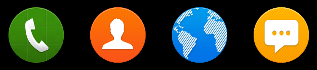 Main icon visibility on different backgrounds