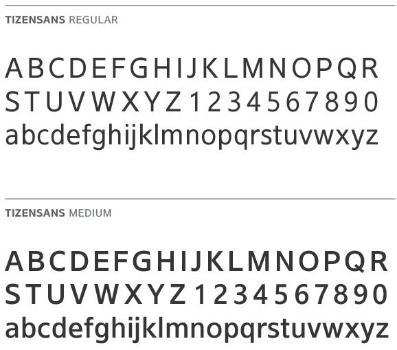 TizenSans regular and medium fonts