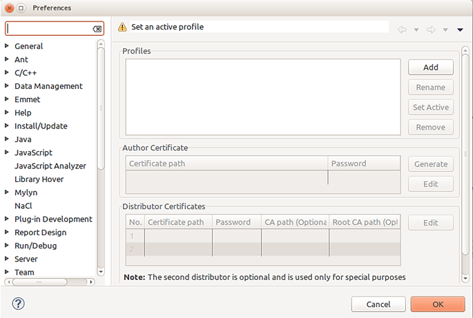 Issuing A Tizen Certificate From Certificate Extension Ver 111