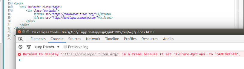 load iframe with https | Tizen Developers