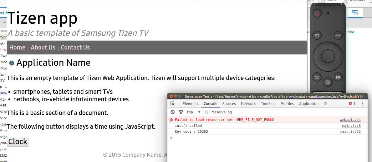 Does the simulator of the Tizen Studio 2 1 support Webapis? | Tizen