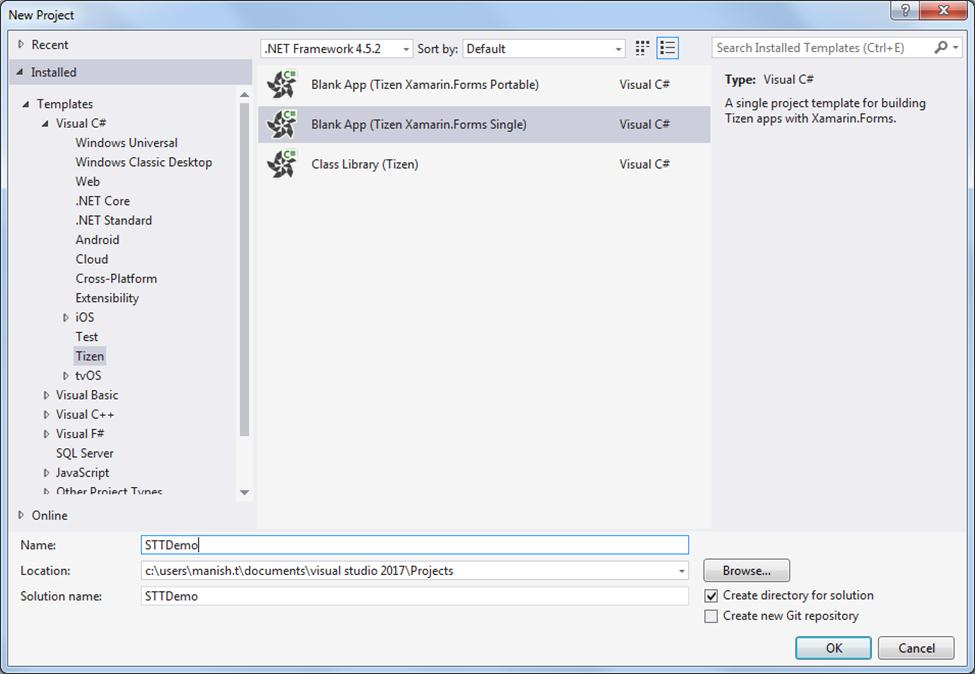 Developing Tizen  NET Applications with Speech-To-Text