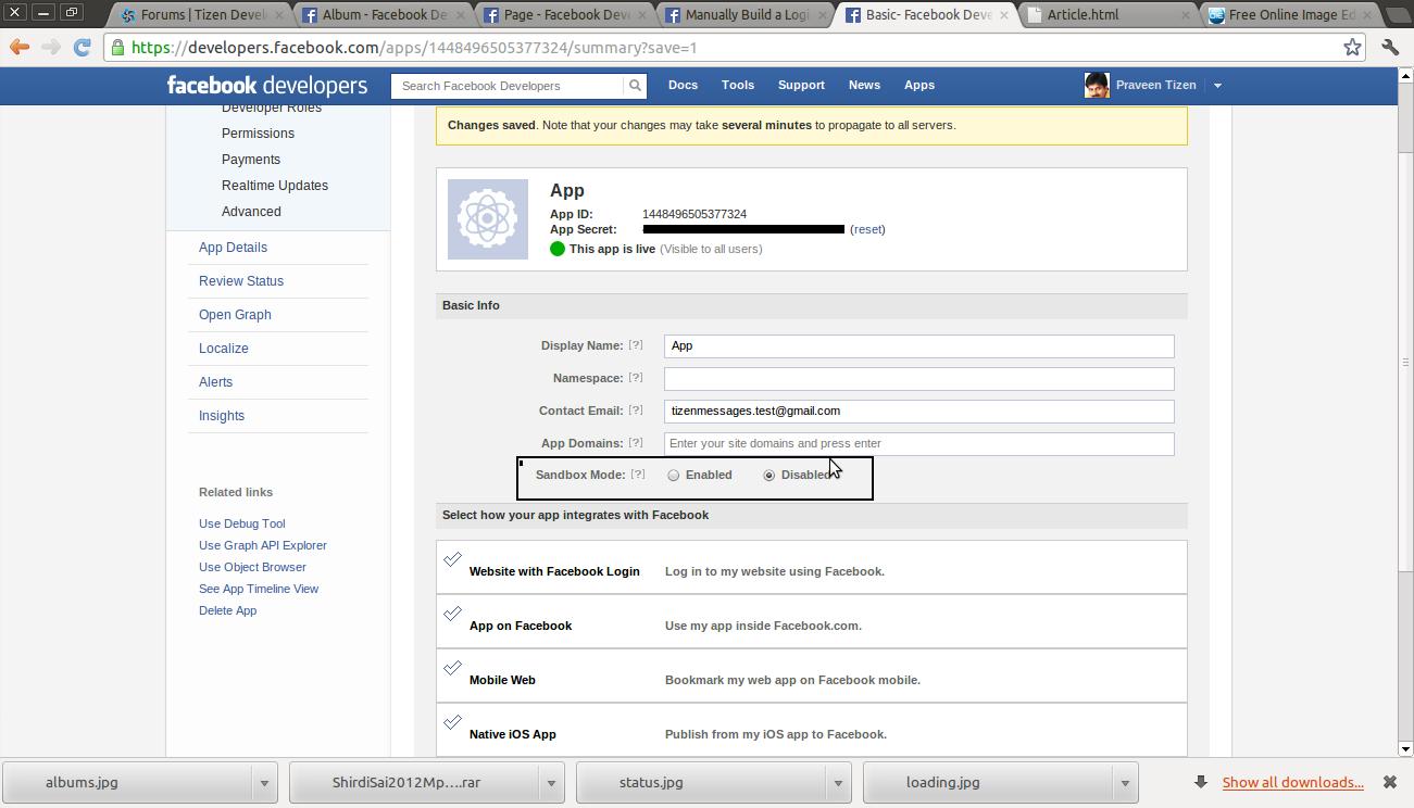 Facebook App in Tizen | Tizen Developers