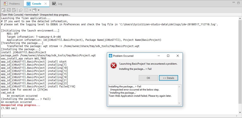 SamsungTV] Can't run app in emulator | Tizen Developers