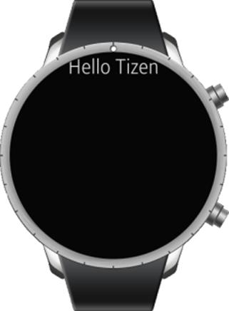 Hello Tizen app